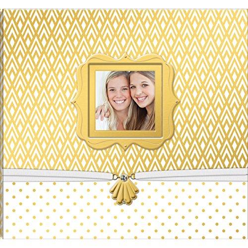 (K&Company Patterned Post Bound Window Album 12x12-Gold & White)