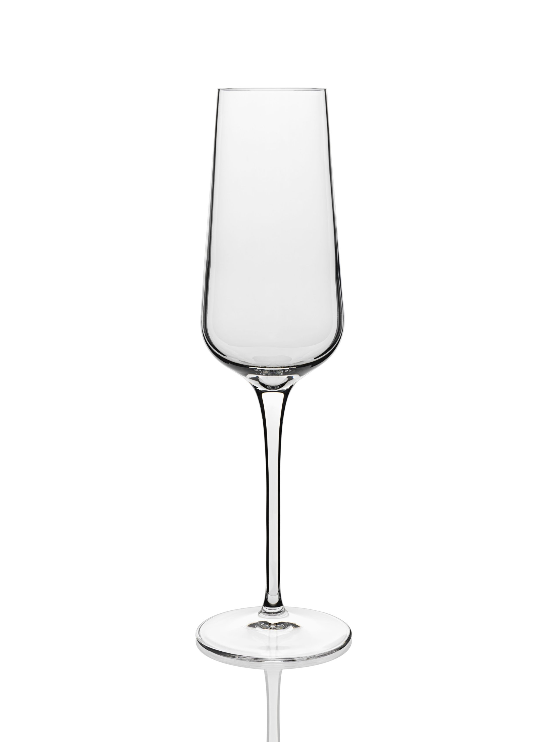 Luigi Bormioli 10044/06 Intenso 8.25 oz Champagne Flutes (Set Of 6), Clear