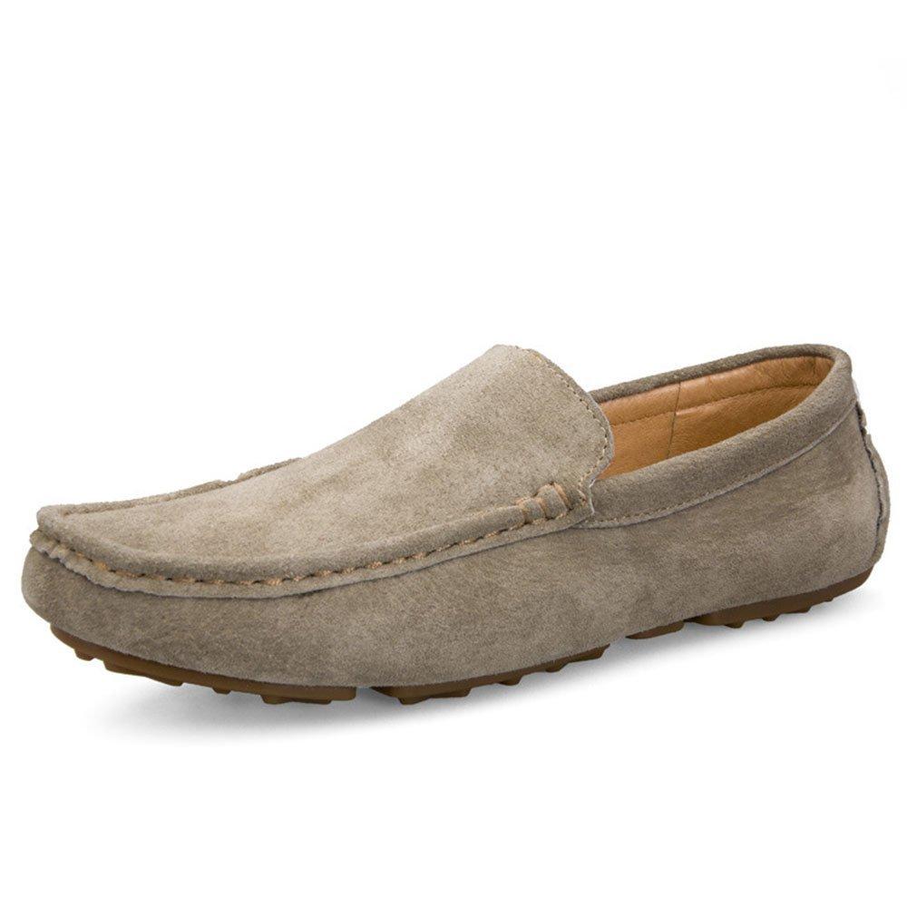 Mocasines para Caminar Zapatos Casuales de Color sólido de los Hombres de Verano Cómodo Cuidado de los pies Zapatos de Barco 41 1/3 EU|Caqui