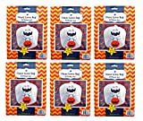 Set of 6 Giant Halloween Ghosts Lawn Bags with Twist Ties 45'' x 48'' (Set of 6, Ghosts)