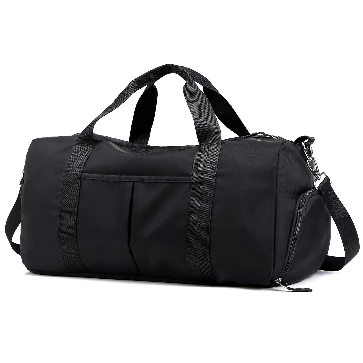 82a0992c4407 Forestfish Sports Gym Bag Travel Duffel Bag with Dry Wet Pocket & Shoes  Compartment for Women and Men (Black)