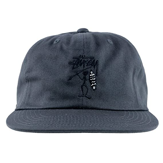105b2541e13 Stussy Tribe Strapback Cap Black  Amazon.co.uk  Clothing