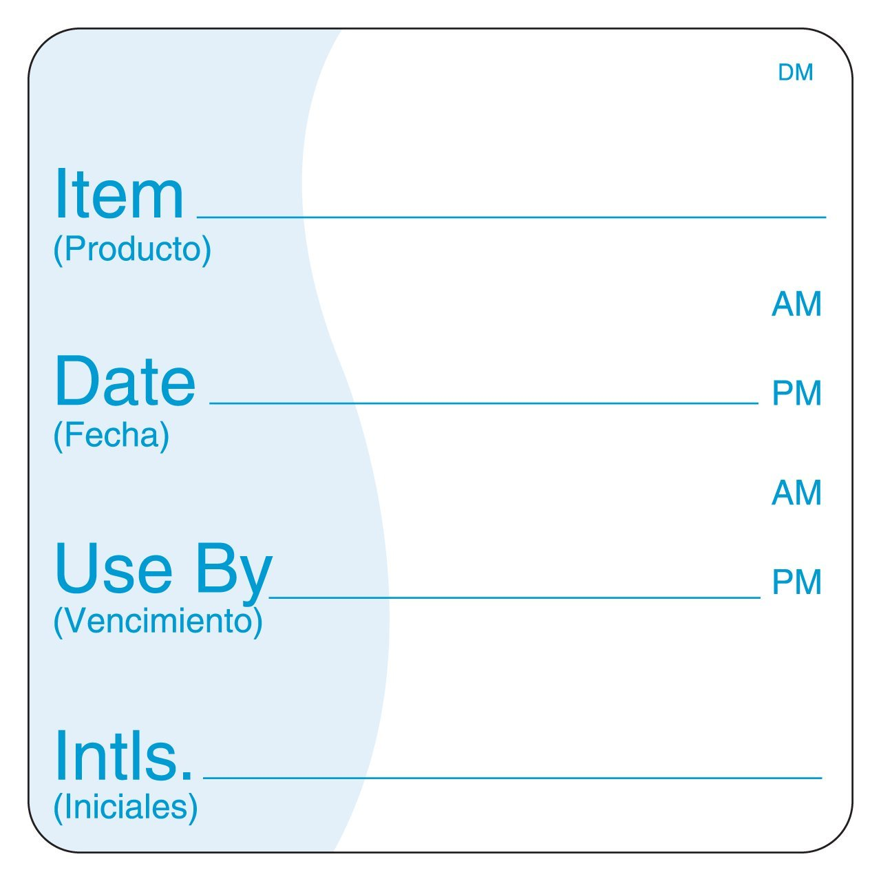 DayMark Item/Date/Use by Dissolvable Label, 3'' x 3'' (Roll of 200) by DayMark Safety Systems (Image #1)