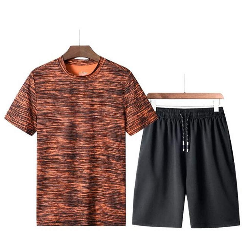 9a4783acbf6c orange LHY7 Tracksuit T Shirt Shirt Shirt Sport Suit Sets Pants Activewear  for Men 57dfc3