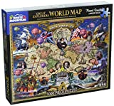White Mountain Puzzles Great Explorers World Map - 1000 Piece Jigsaw Puzzle