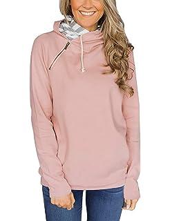 55659f26d8ed Yieune Kapuzenpullover Damen Sweatshirt Casual Langarmshirt Blumenmuster  Tunika Pullis Bluse Pullover