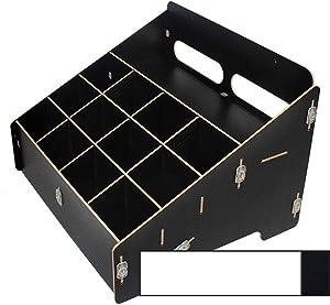 Walkie Talkie Organizer Wood DIY Desktop Multi-girds Mobile Phone Storage Box Security Office Storage Rack Parts Storage Management