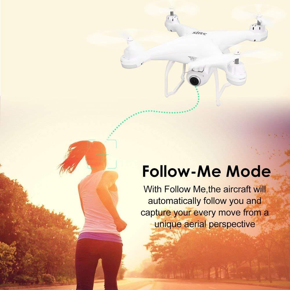 Erduo SJ R C S20W FPV 720P Fotocamera Selfie Altitude Hold Drone modalit/à Headless Auto Return Decollo atterraggio Hover GPS RC Quadcopter