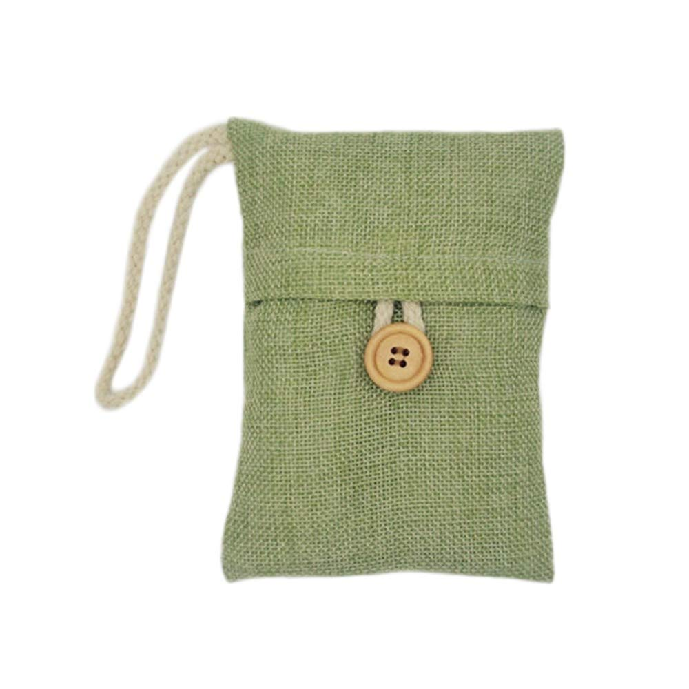 1pcs/ 2PCS / 4pcs / 10pcs Bag Activated Bamboo Charcoal Air Freshener Odor Deodorant New for Car/Closet /Shoes/Bathroom Car/Deodorizerc / Bathroom/Pet Litter (Green, 1pcs)