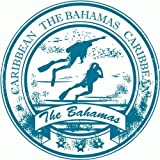 The Bahamas Caribbean Diving Travel Car Bumper Sticker Decal 5'x 5'