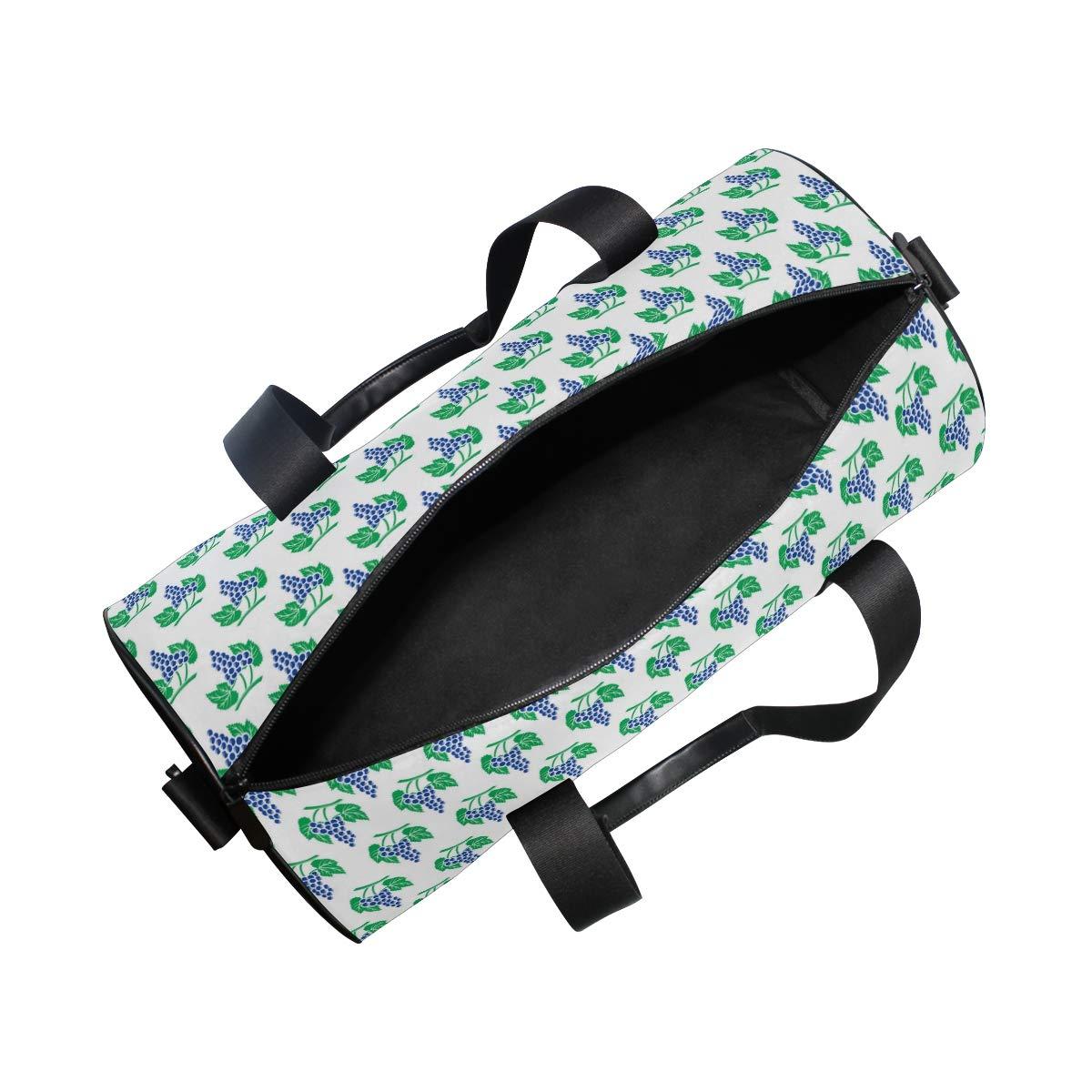 Waterproof Non-Slip Wearable Crossbody Bag fitness bag Shoulder Bag Grape Fruit Picture