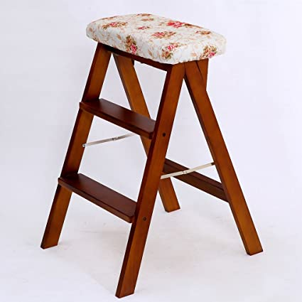ZHDC® Sillas plegables creativas de madera maciza Taburete ...