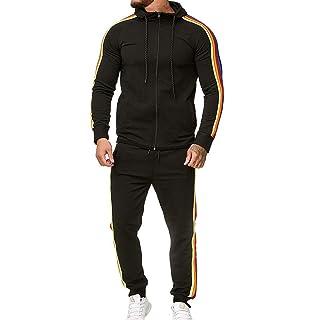 Dreamyth Mens Autumn Winter Camouflage Sweatshirt Top Pants Sets Sports Suit Tracksuit