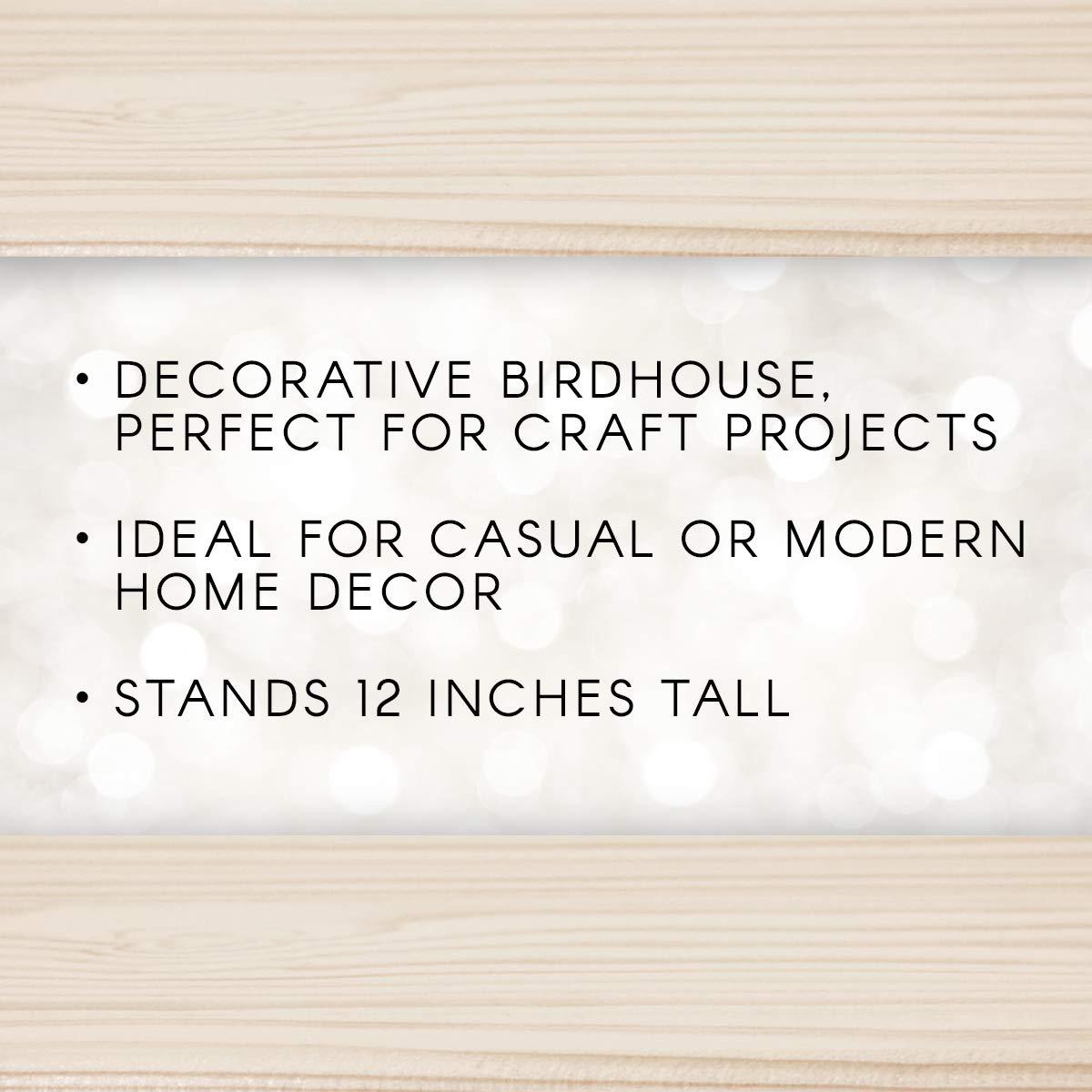 Darice 9166-54 Natural Wood Birdhouse Manhatton, 12-Inch