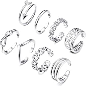 Dating Evening Party Oyov2L Womens Fashion Simple Hollow Love Adjustable Finger Toe Open Ring Beach Jewelry for Wedding Banquet Gift