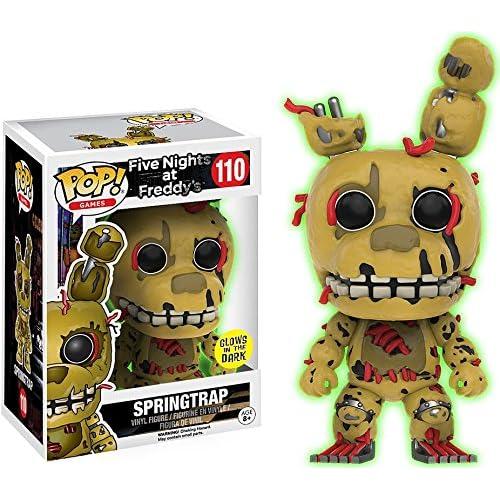 Funko - Figurine Five Nights at Freddy's - Springtrap Glows in the Dark Pop 10cm - 0889698127080
