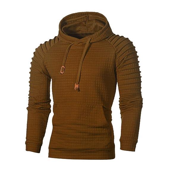 FRAUIT Kapuzenpullover Herren Männer Zipper Hoodie Sweatshirt Fleece Pullover Fitness Training Baumwolle Volle Größe Langarmshirt Sport Sweats Pulli
