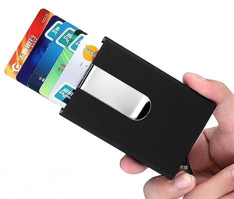 RFID bloqueo dinero clip aluminio Pop-up Tarjeta Funda Imán cartera fina (un)