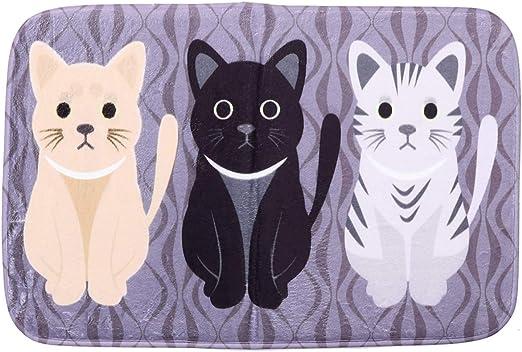 VORCOOL - Felpudo con gatos para entrada, cocina, baño, jardín, casa, 40 x 60 cm: Amazon.es: Hogar