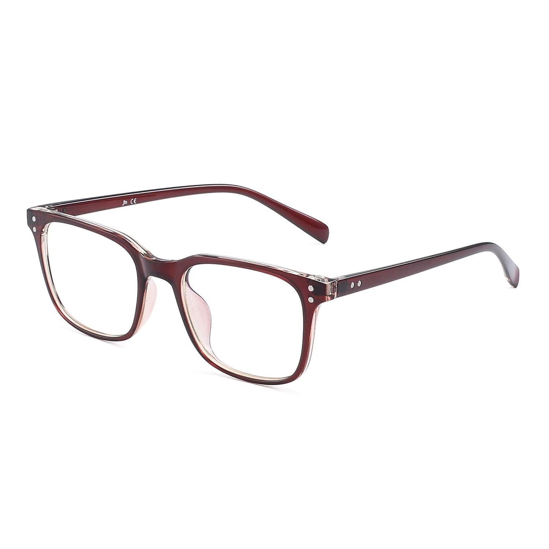 Blue Light Blocking Computer Glasses Anti Blue Ray Square Eyeglasses Reduce Eye Strain for Women Men 5025C2