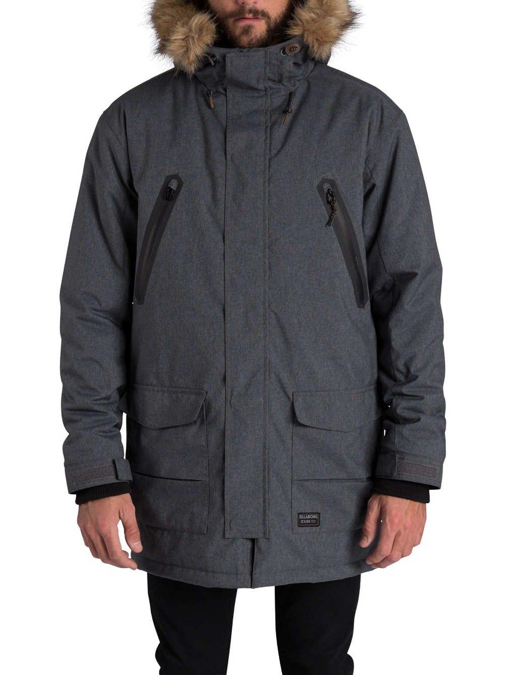 2016 Billabong Tumbolt Parka Jacket ANTHRACITE Z1JK21
