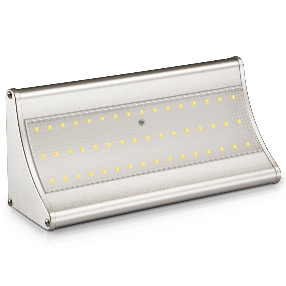 MNOPQ Motion Sensor Solar Lights Outdoor, 48 LED 900 Lumen Waterproof Security Lights for Front Door, Back Yard and Driveway
