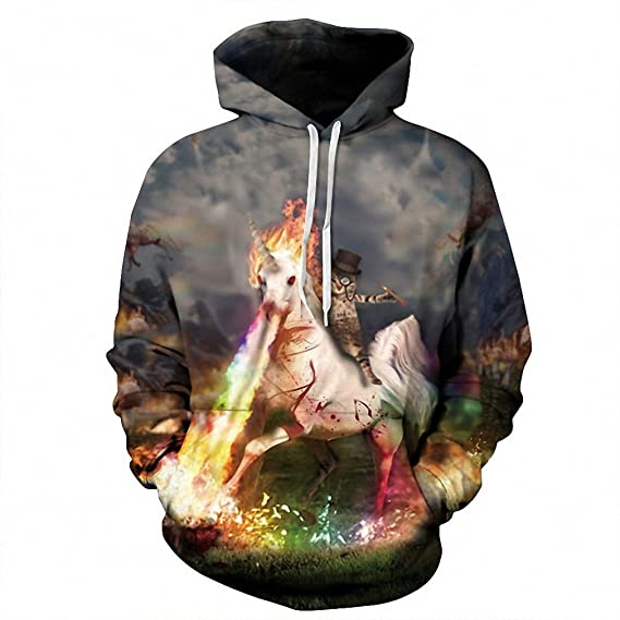Crochi Dropship 3D Print Knight Cat Unicorn Sweatshirts Loose Casual Hooded Sweatshirts Hoodies sudaderas mujer at Amazon Mens Clothing store: