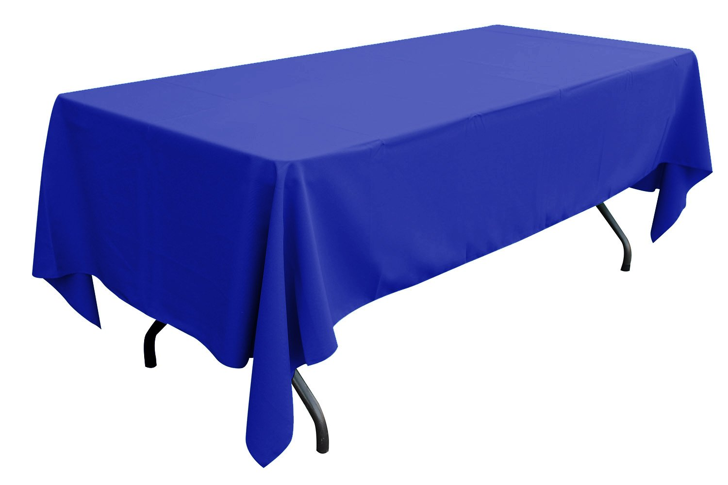 Enimay 108'' x 58'' Heavy Duty Polyester Tablecloth Party Event Wedding Tableware 10 Piece Blue