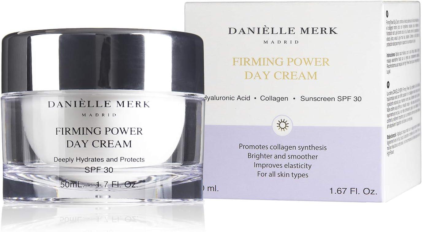 DANIÈLLE MERK - Firming Power Day Cream - Crema Hidratante Facial Mujer - Tratamiento para Piel Grasa, Mixta, Normal y/o Pieles Sensibles - Ácido Hialurónico Puro - 50 ml