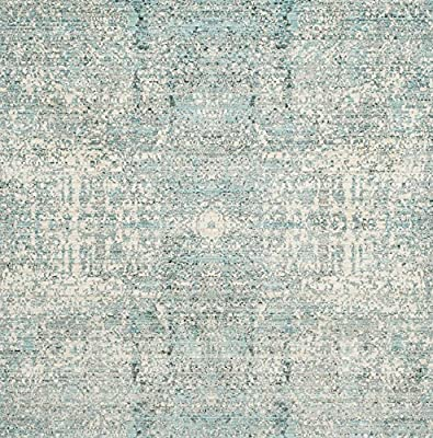 Safavieh Mystique Collection MYS971A Vintage Watercolor Teal and Multi Area Rug (5' x 8')