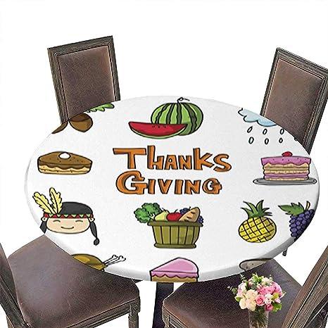 Amazon Com Decorative Round Tablecloth Thanksgiving Set