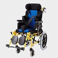 Lightweight folding children's wheelchair driving medical, cerebral palsy children's wheelchair car multi-functional disabled children fully lying flat reclining wheelchair stroller