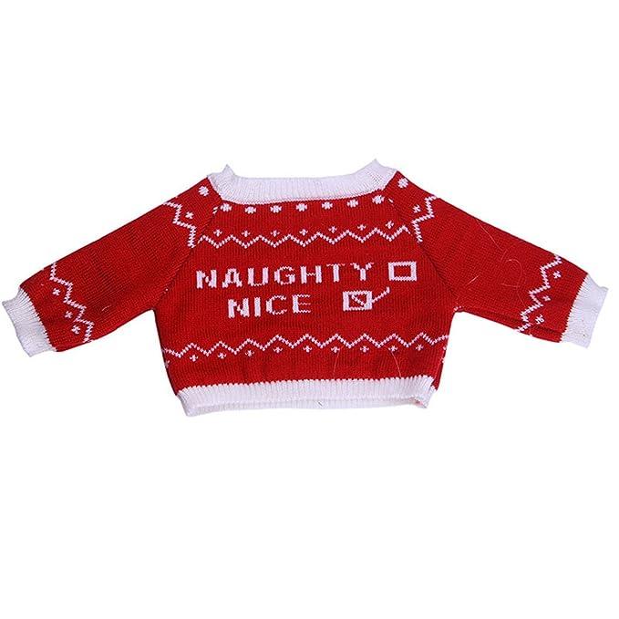 e531c6a74dba Amazon.com  Jeleuon Cute Baby Beautiful 4Pcs Red Sweater+ Jeans ...