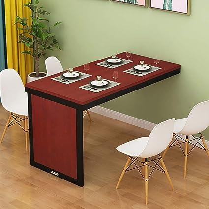 Refue Bureau Murale Pliable Table A Manger Mural Rabattable Table Haute De Bar Gain De Place Style Moderne Amazon Fr Cuisine Maison