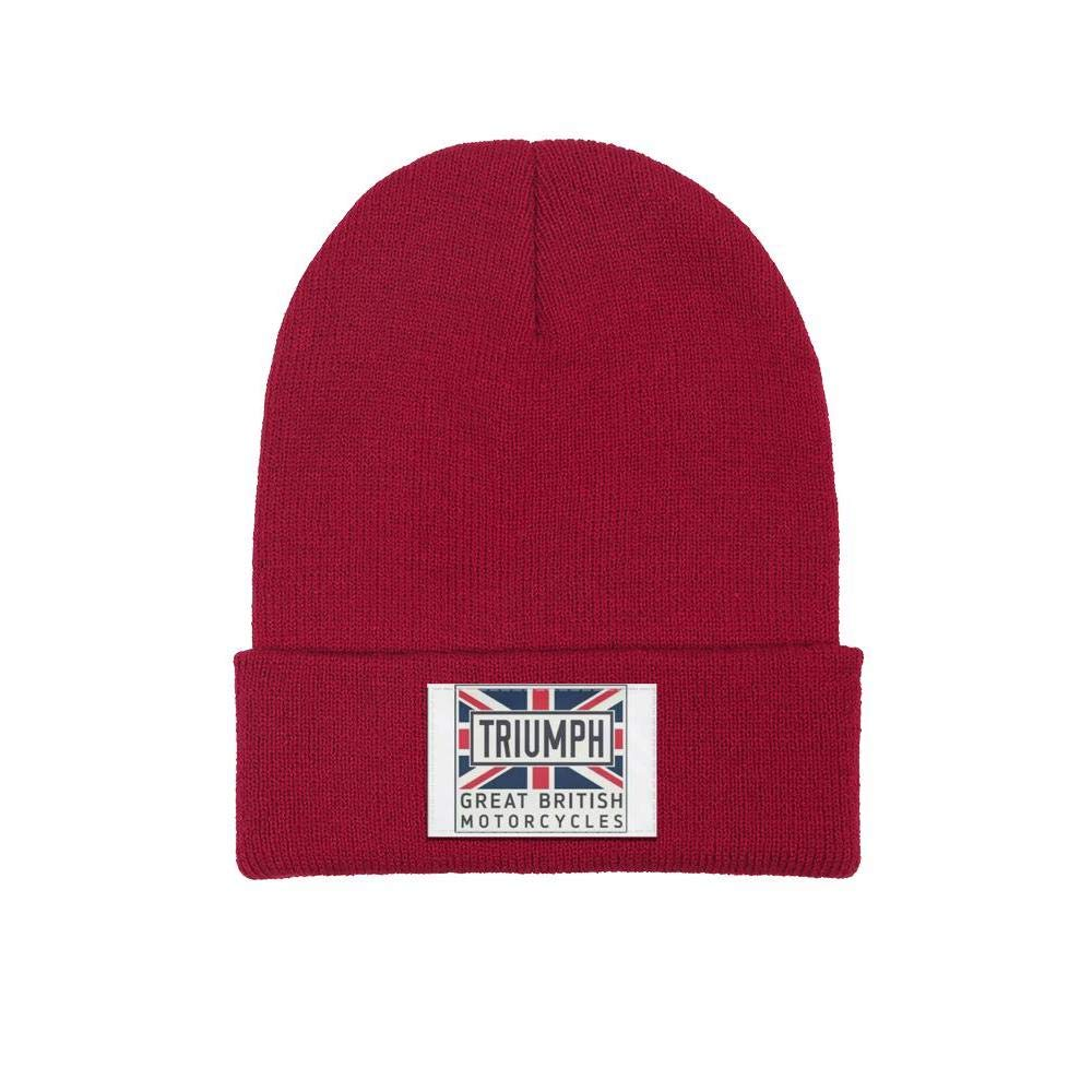 Warm Knit Cap Mens Womens Beanie Hat Triumph-Motorcycles-Logo