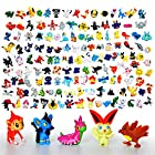 Pokemon Mini Action Figures 72 Pcs Set Pokemon Monster Toys Set by Fozo