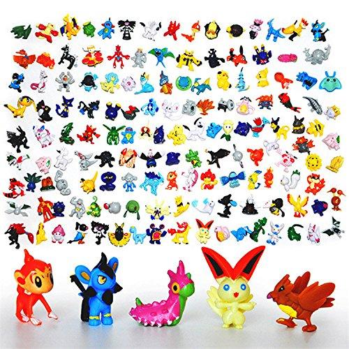 Pokemon Mini Action Figures 72 Pcs Set Pokemon Monster Toys Set by Fozo