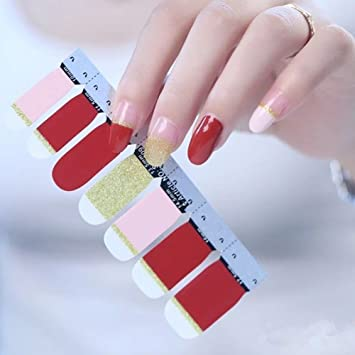 Amazon.com: 6 Different Sheets Shinny Full Nail Art Tips Stickers ...
