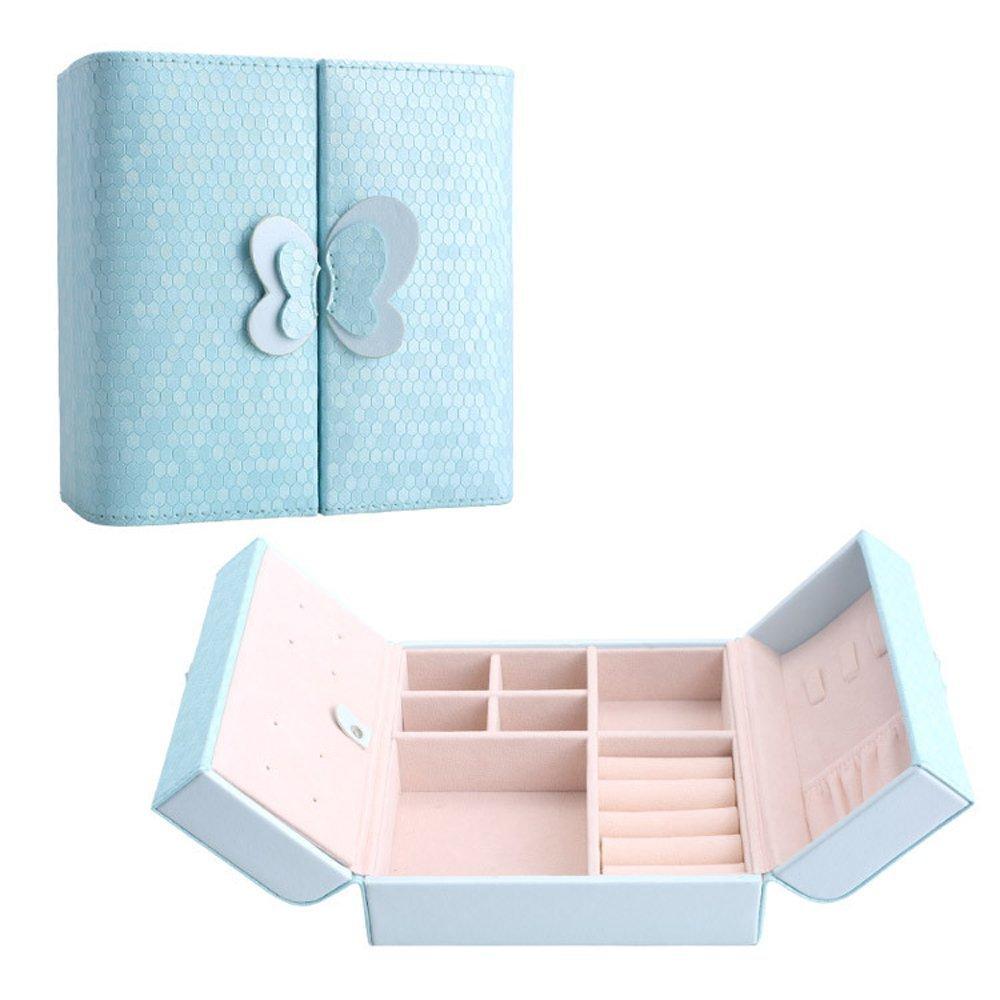 置いておくだけでかわいい♡水色ジュエリーボックス