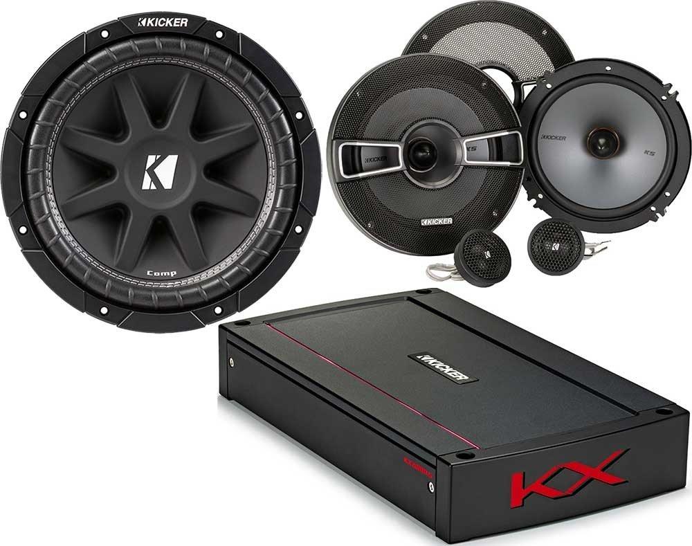 Kicker 3項目のバンドル44 kxa800.5 KXシリーズ車アンプwith 41 kss654 6 – 1 /2コンポーネントスピーカーシステム、43 C104 10