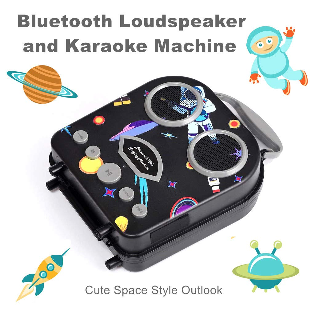 Kids Karaoke Machine with Microphone, Bluetooth Rechargeable Kids Handbag Karaoke Music Player Toy Children MP3 Player Loudspeaker with Microphone (Handbag Black) by Kidsonor (Image #4)