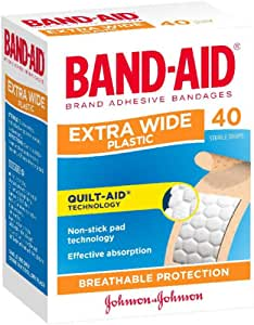 Band-Aid Adhesive Strips Extra Wide 40