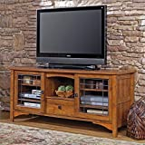 Sauder 404867 Rose Valley Entertainment Credenza, Abbey Oak Finish