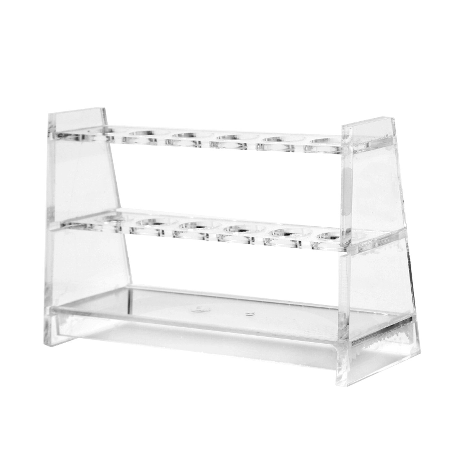 25ML Colorimeter Tube Rack Acrylic Strong Test Tube Holder 6 Slots Suit for Tubes Less Than 2.1cm/0.83inch in Diameter Burry Life Science