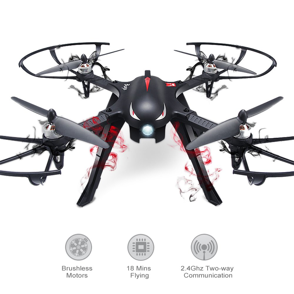 Quadcopter RC Drone - Brushless RC Drones 300M Control Distance, 18 Mins Flying Time RTF Drone For Gopro Racing Drone MJX Bugs 3 Brushless Motors RC Quadcopter