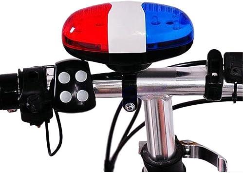 REFURBISHHOUSE Bicycle Bell 6 LED 4 Tono de bocina Luz LED ...