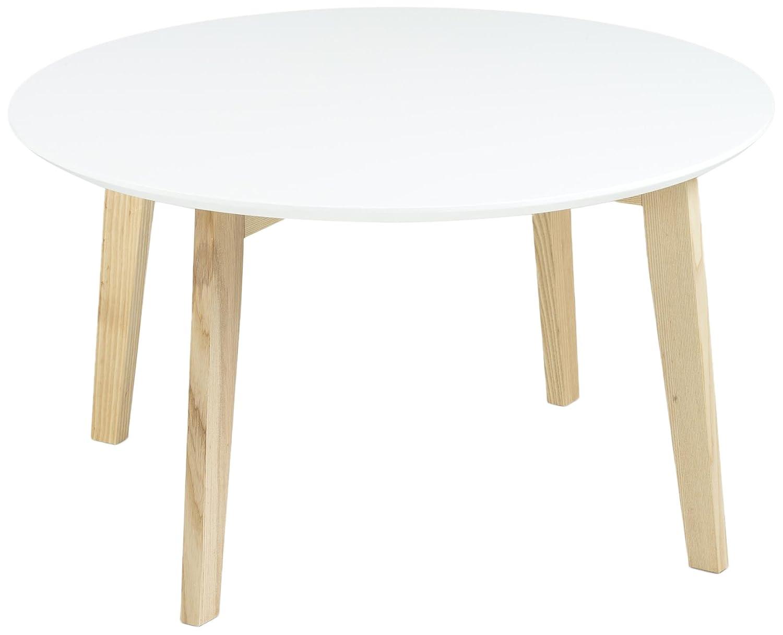 AC Design Furniture Couchtisch Mia, B  80 x T 80 x H  45 cm, MDF, Weiss