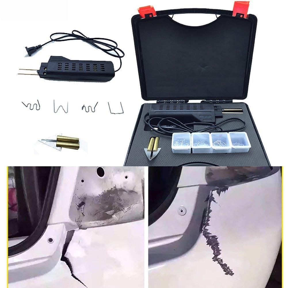 Binglinghua 110V/220V Hot Stapler Car Bumper Fender Fairing Welder Gun Plastic Repair Kit 200 Staples by Binglinghua® (Image #2)