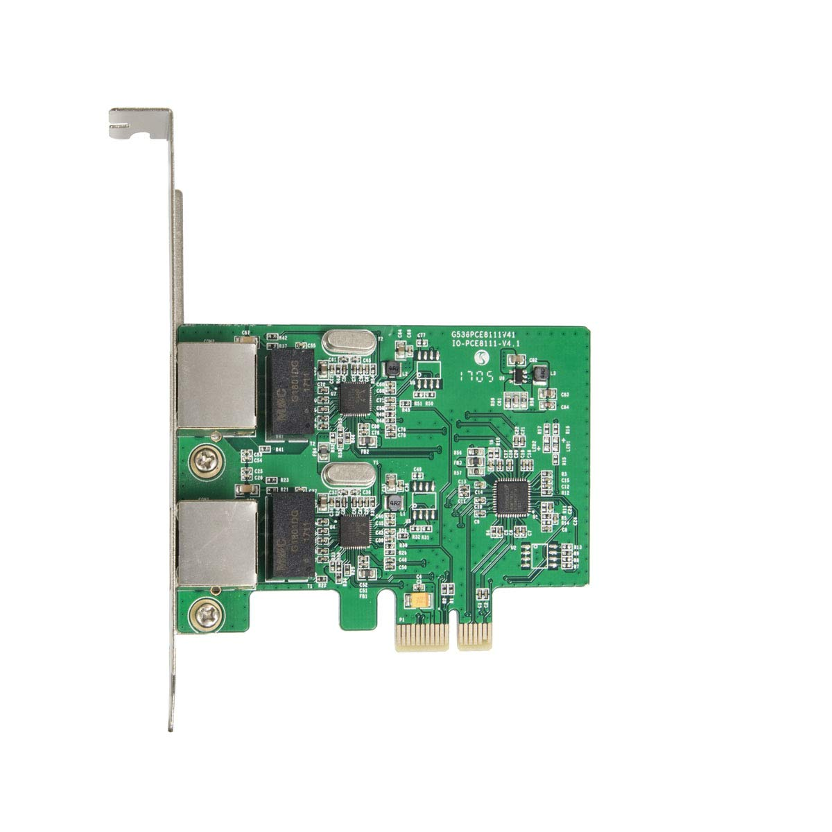 Syba SD-PEX24033 Dual LAN Ports 1000-Base T Gigabit Ethernet Card Green