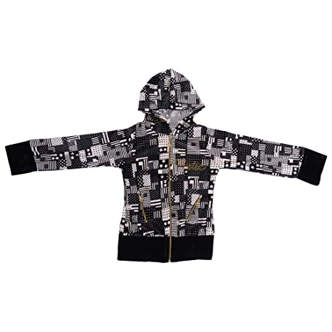 c36ec3a3c Beautiful-Black-Color-Hoodie for Girls  Amazon.in  Baby